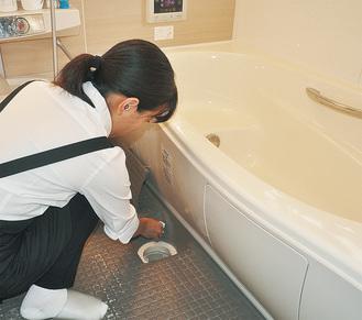 依頼が多いお風呂掃除。落しにくい汚れを奇麗にしてくれる