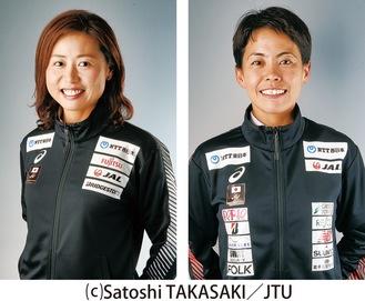 ゲストの秦選手と(左)と上田選手
