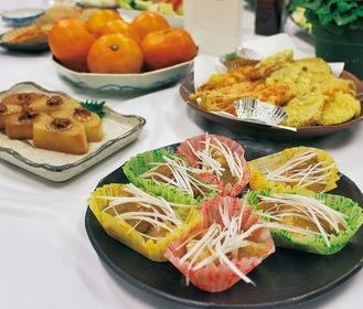 調理された横浜産の食材