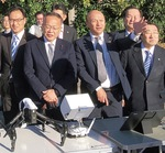 公明党横浜市会議員団で消防訓練センターを視察(右から3人目が中島)