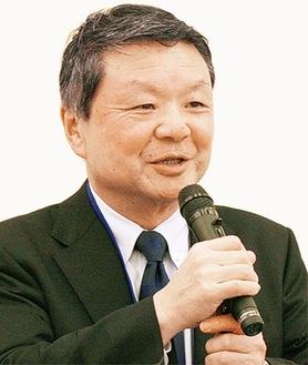 スポーツ振興を呼びかける松田会長