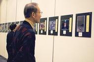 区民の写真が並ぶ公募展