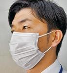 高橋看護師監修の正しいマスク着用例。鼻とあごを覆いしわを伸ばす