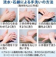 「手洗い・消毒の徹底を」