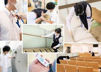 消毒や検温、手袋着用など法人全体で徹底