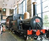 110形蒸気機関車 展示