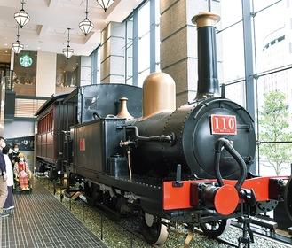 展示されている110形蒸気機関車
