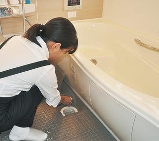 依頼が多いお風呂掃除。ピカピカにきれいにしてくれる