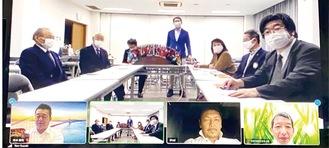 会場、オンラインで参加したメンバーが議論した