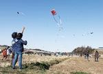 例年児童による凧揚げが見られる