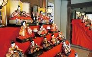 古民家でひな人形 展示
