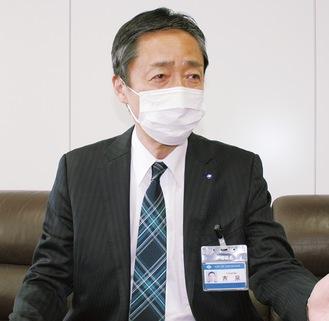 ワクチン接種時期を語る吉泉区長