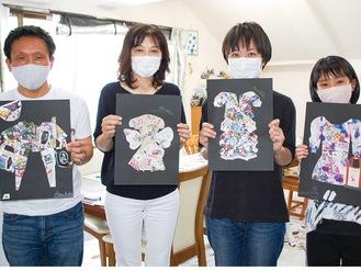 白瀬さん(中央右)、久保川さん(中央左)と参加者