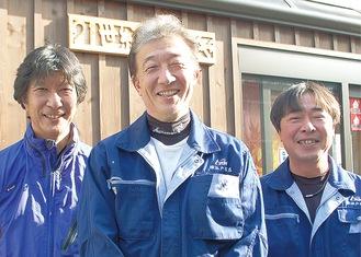 左から福嶋慶太さん(兄)、福嶋社長、浅野さん