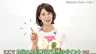 福田かずみさんが調理しながら解説