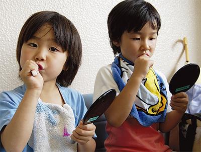 歯磨きで健康な歯