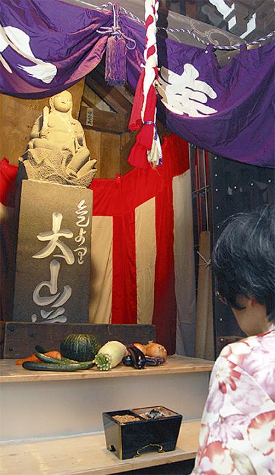 伝統の不動尊参拝