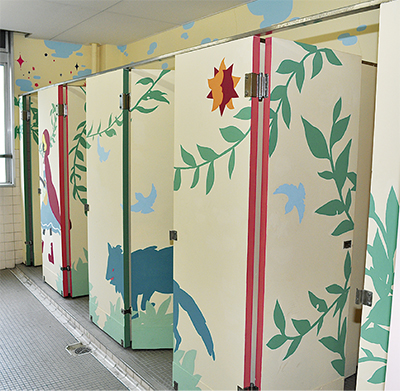 トイレをアート空間に