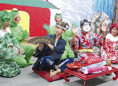地元民話の劇で演出
