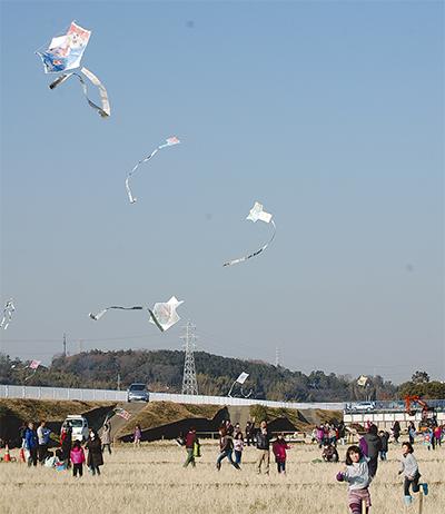 東俣野伝統の凧あげ
