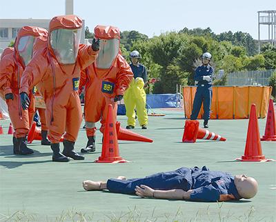 有毒物質の災害訓練