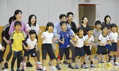 「親子で運動、良い機会」