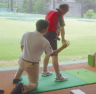 障害者がゴルフ体験
