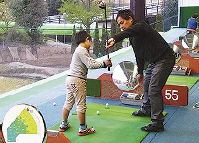 親子でゴルフ