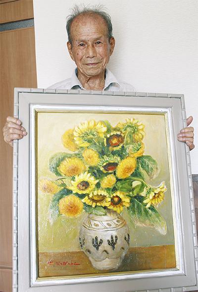 95歳画家、きょうも絵に熱中