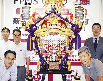 吉田町の神輿 披露