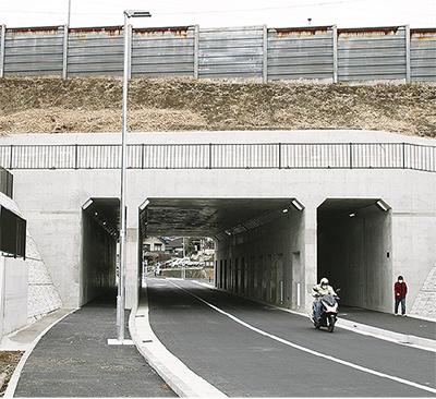 国道1号下に新トンネル