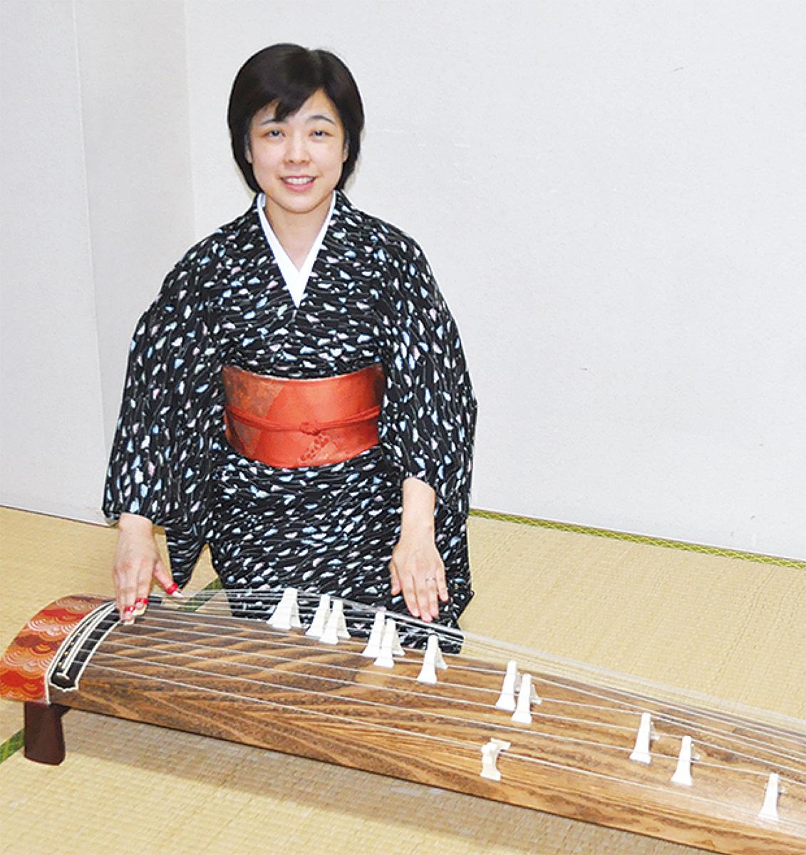 日本の伝統 箏で広めたい