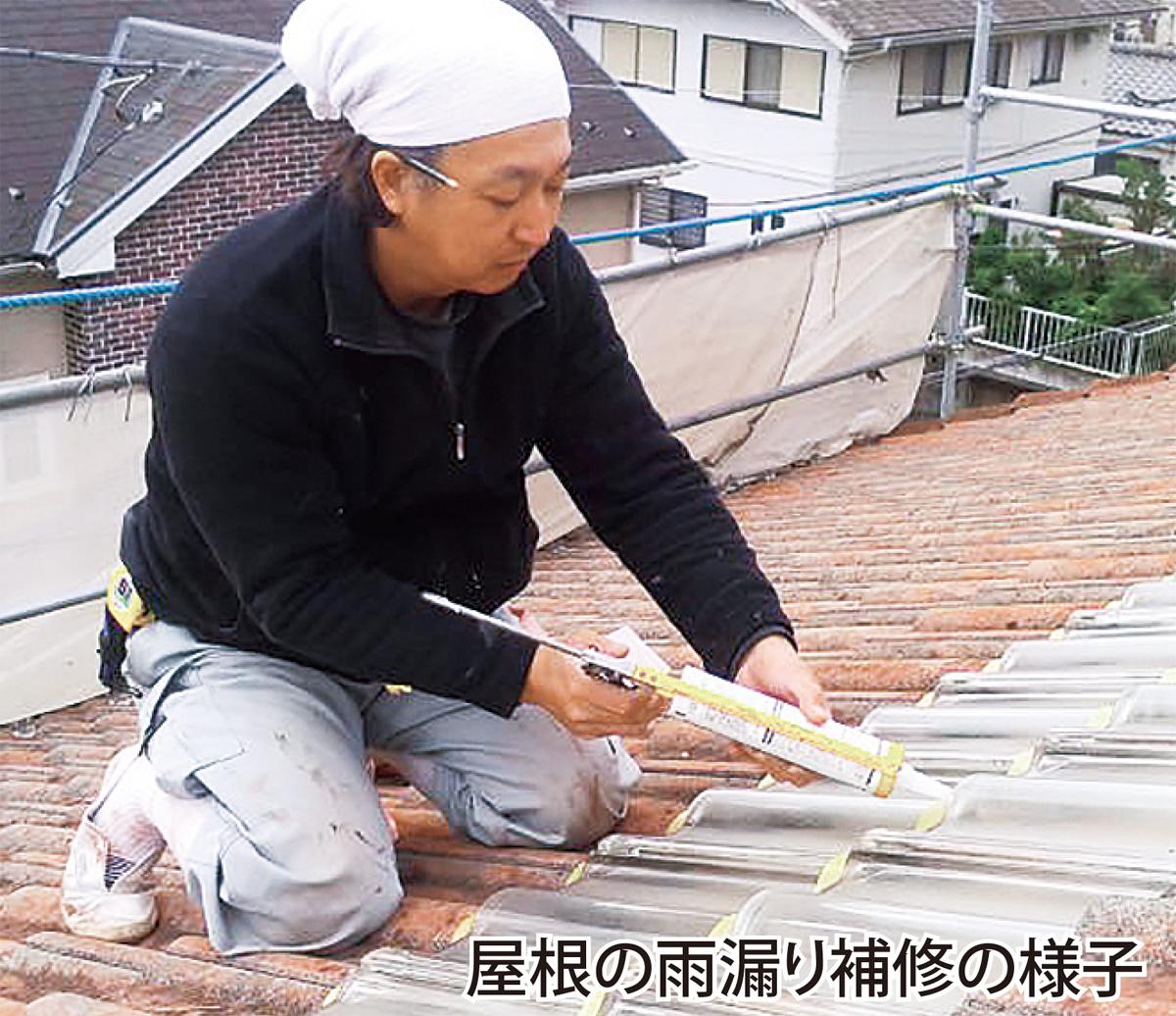 台風被害の修繕と対策を