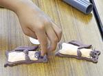 タッチーくんを粘土で作成