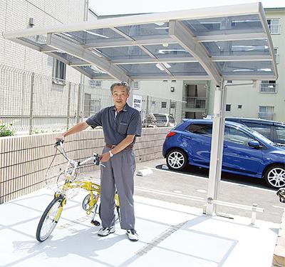 栄区内を貸し自転車で