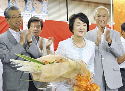 林文子氏、圧勝で再選
