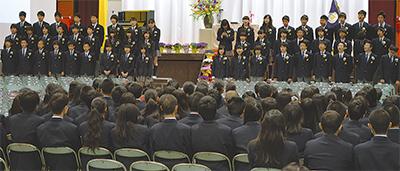 庄戸中で最後の卒業式