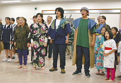 8月に栄村で初公演