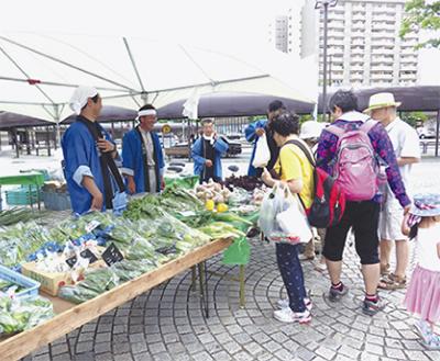 地場野菜の祭典に5千人
