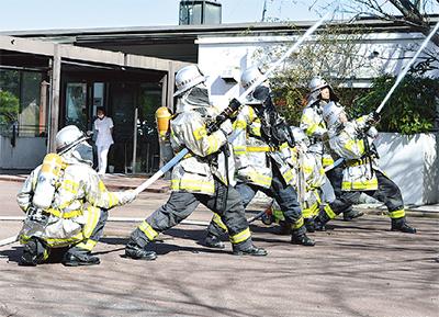 上郷苑で消防訓練