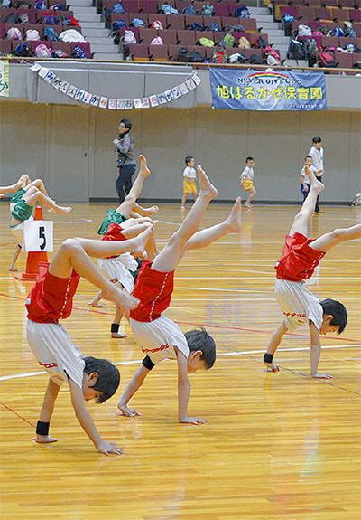 運動能力競い、高め合う