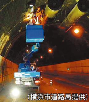 相武隧道ではジェットファンの点検も
