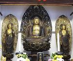 平安末期作の阿弥陀三尊像