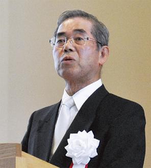 式辞を述べる増田理事長