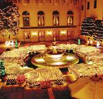 ホテル全体がクリスマス一色に