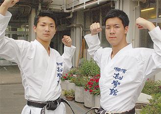 部をけん引する伊勢野選手(左)と宇野選手