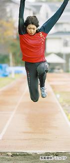 母校・横浜国立大学で練習を積む宮坂選手