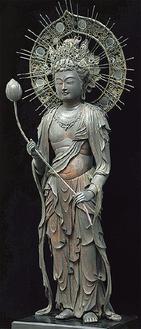 弥勒菩薩立像(個人蔵)