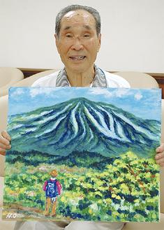 山を望む自身を表現した一枚