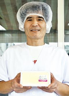 受賞豆腐「あにき」と佐藤さん